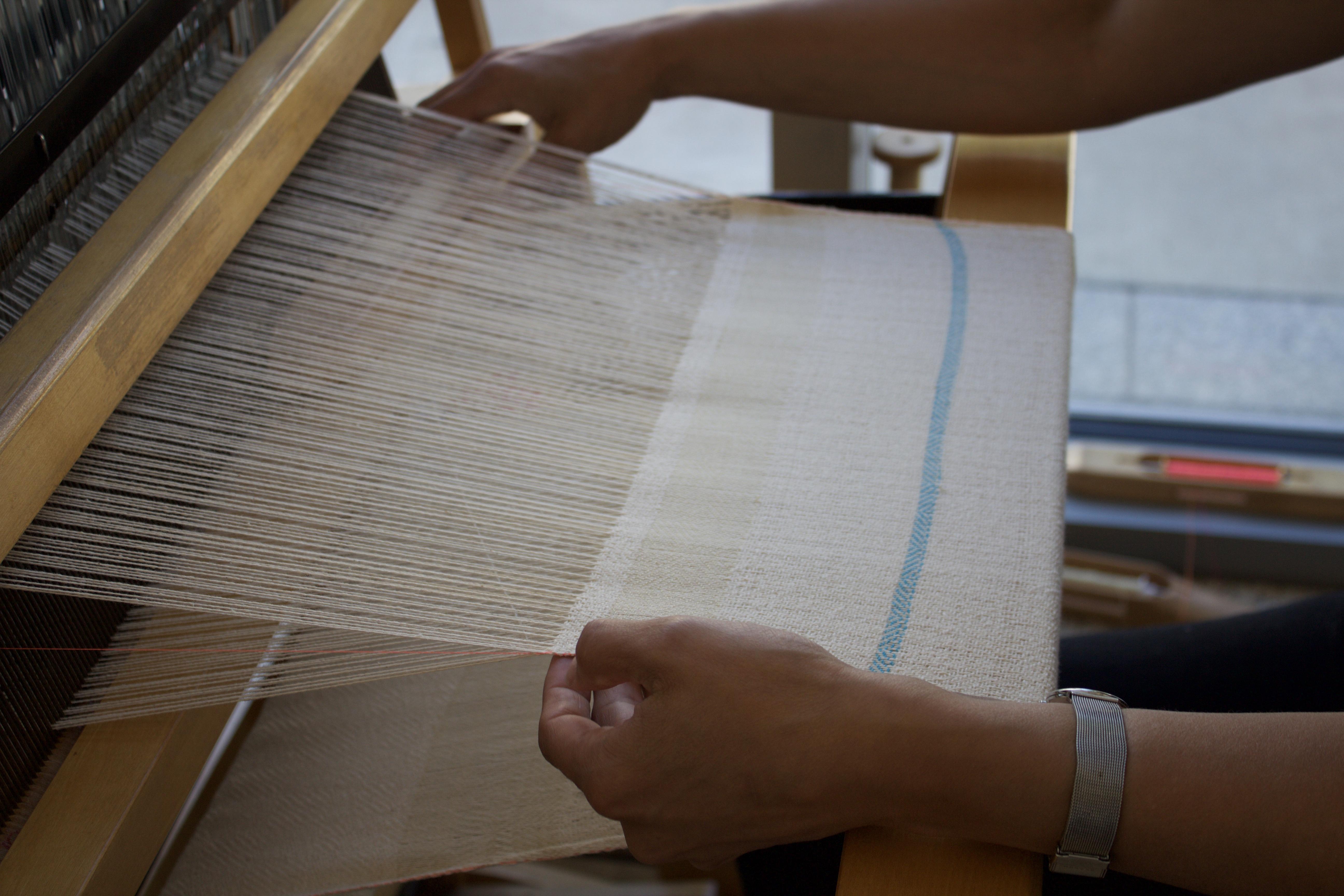Weaving on Loom #2