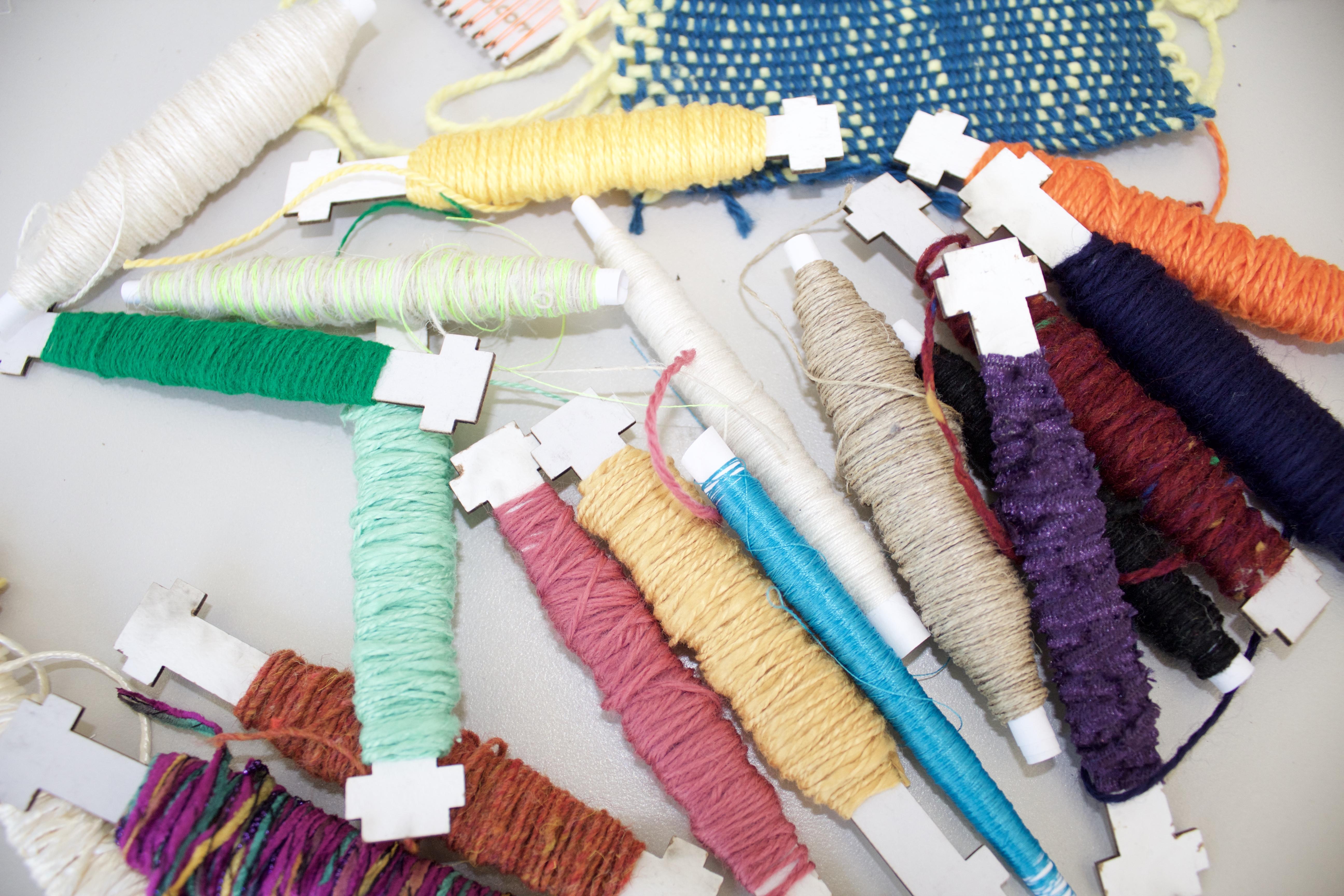 rack of fibers